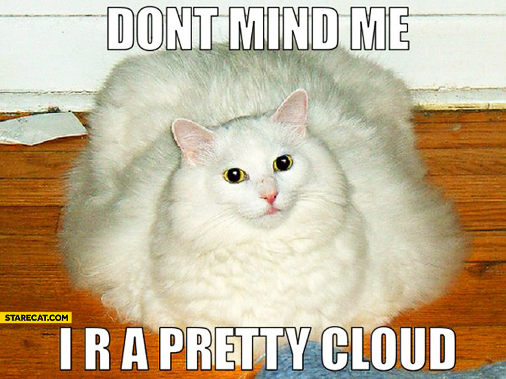 Don't mind me I are a pretty cloud