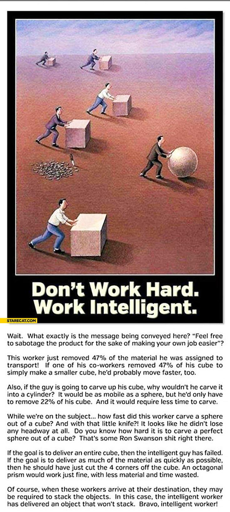 Don't work hard work intelligent cube