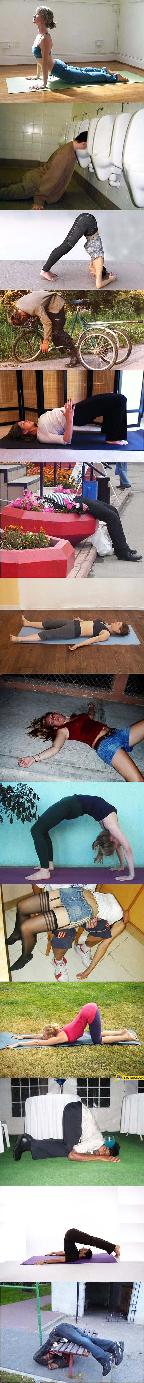 Drunk yoga drunken fail