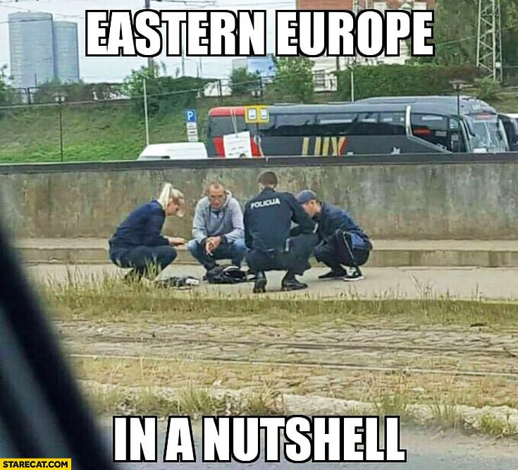 Eastern Europe in a nutshell slavic squatting