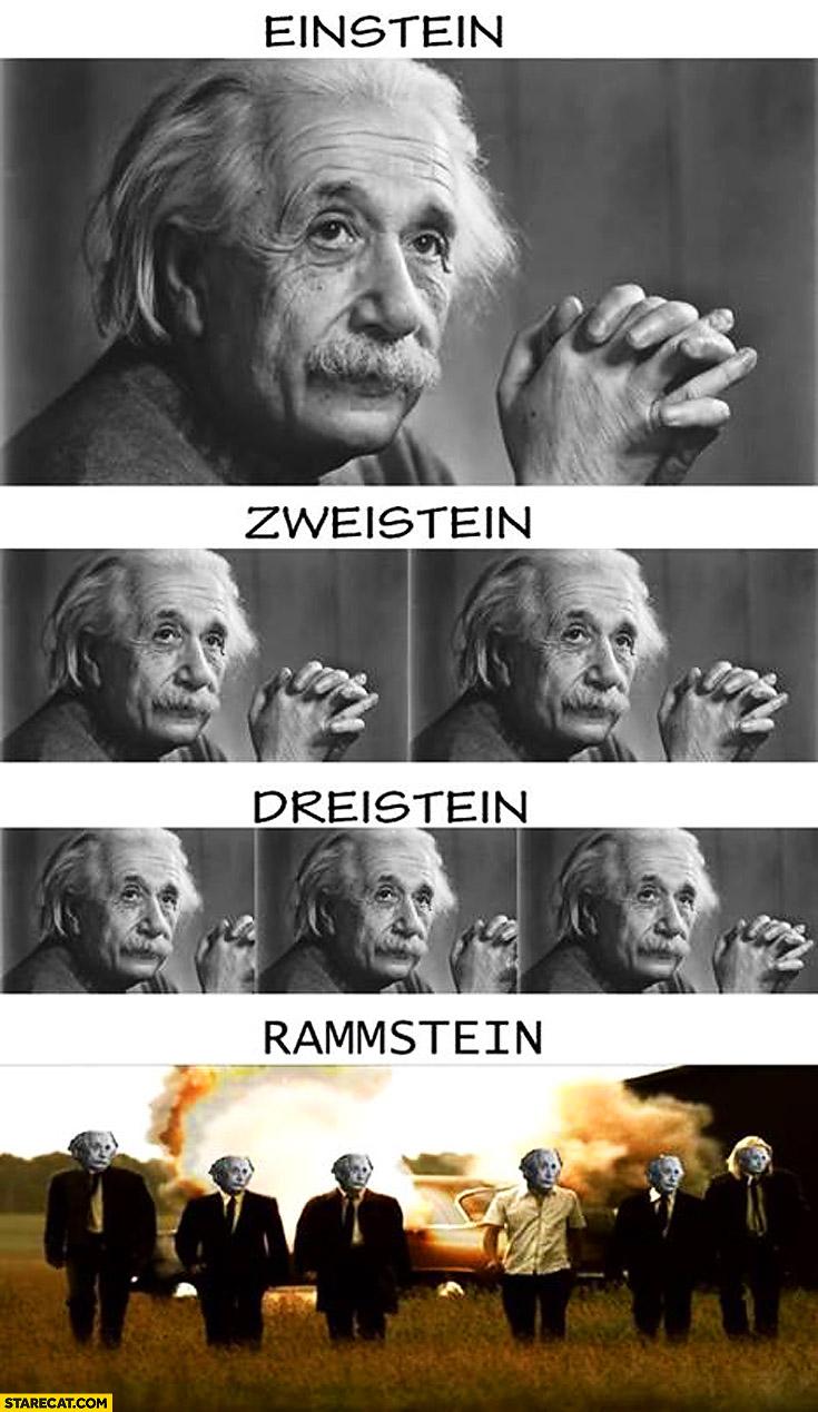 Einstein zweistein dreistein Rammstein