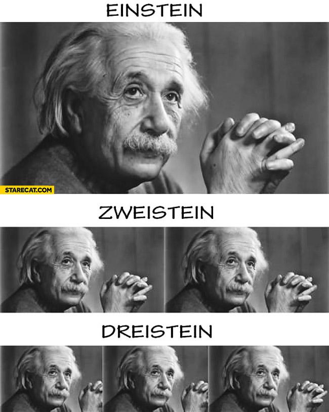 Einstein zweistein dreistein