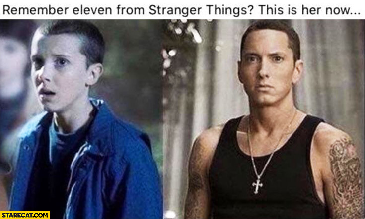Eminem remember Eleven from Stranger Things? This is her now
