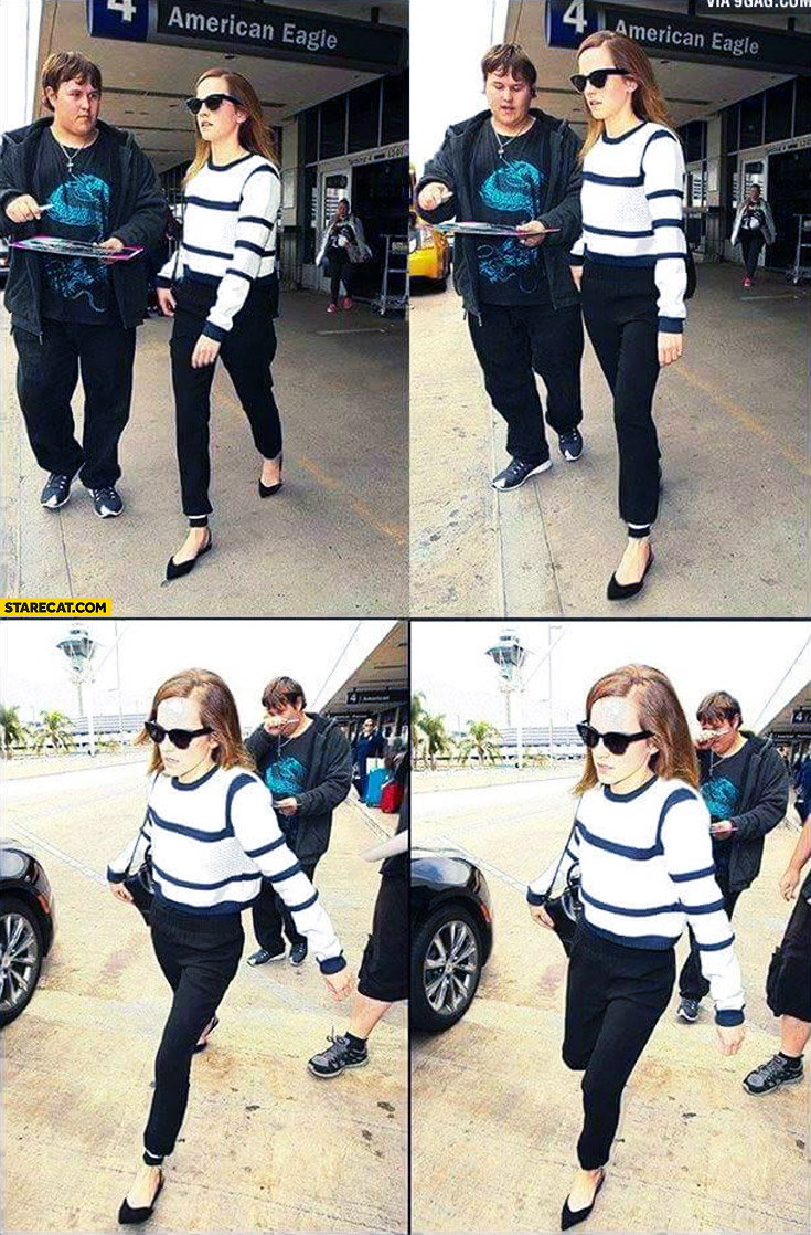 Emma Watson refuses to sign give autograph to fat boy