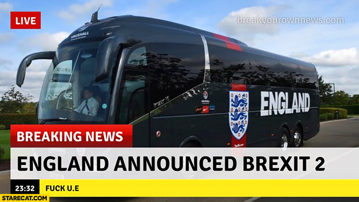 England announced Brexit 2 breaking news world cup football