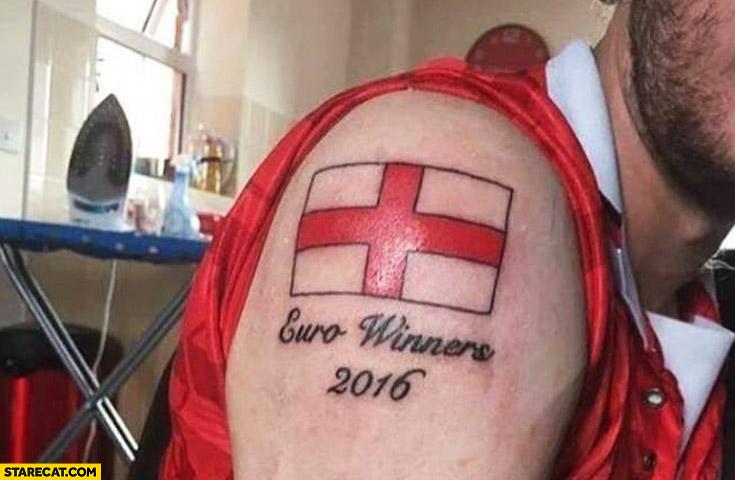 English flag Euro winners 2016 tattoo fail