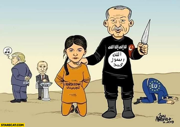 Erdogan ISIS killing Kurdistan Trump Putin EU not interested