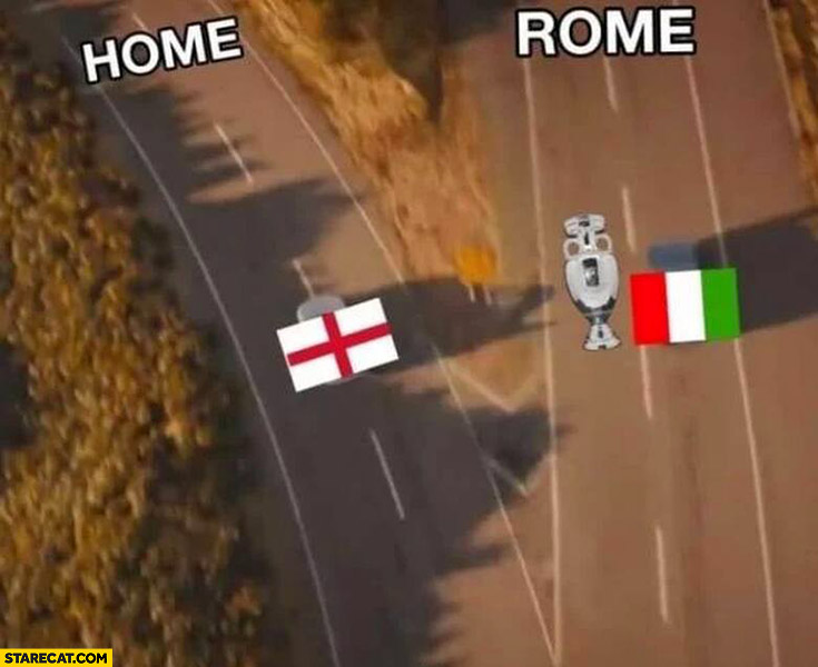 Euro 2020 cup trophy coming Rome not home to England split roads