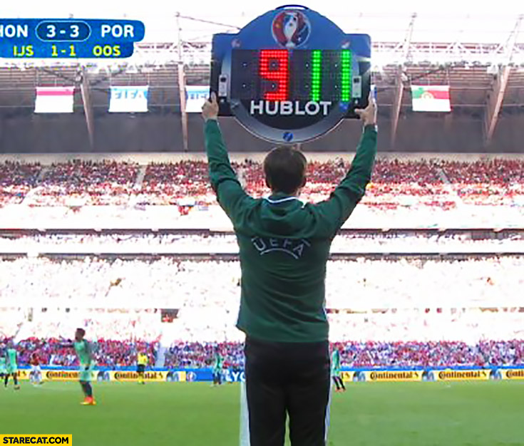 Euro match football substitution board nine eleven WTC