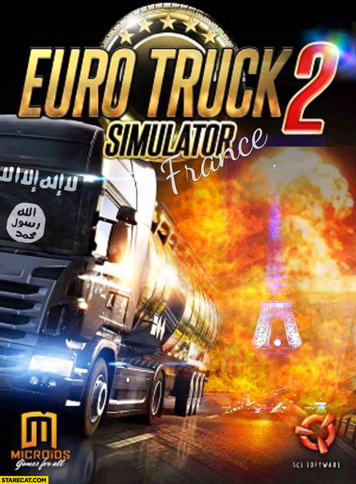 Euro truck Simulator 2 France Nice attacks game