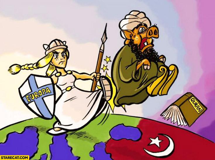 Europe kicking islam out
