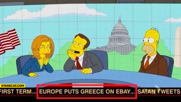 Europe puts Greece on eBay Simpsons