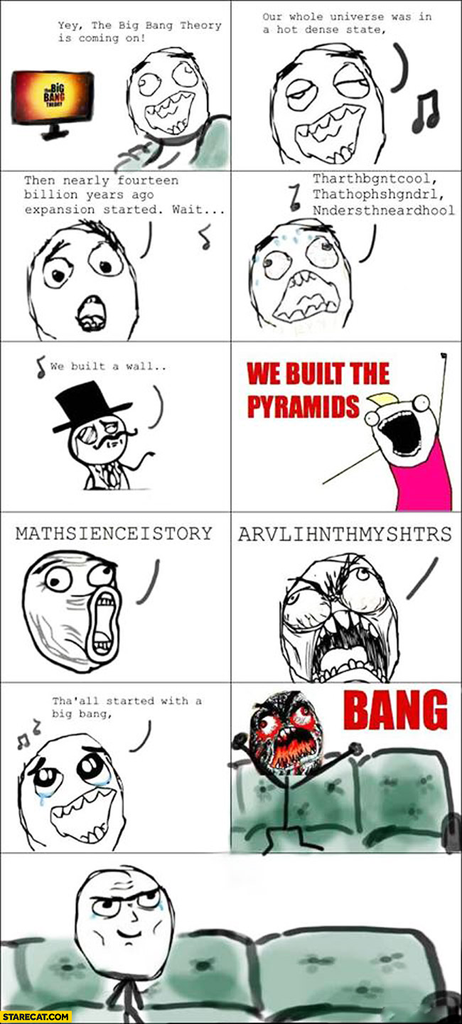 Every time big bang theory starts singing intro