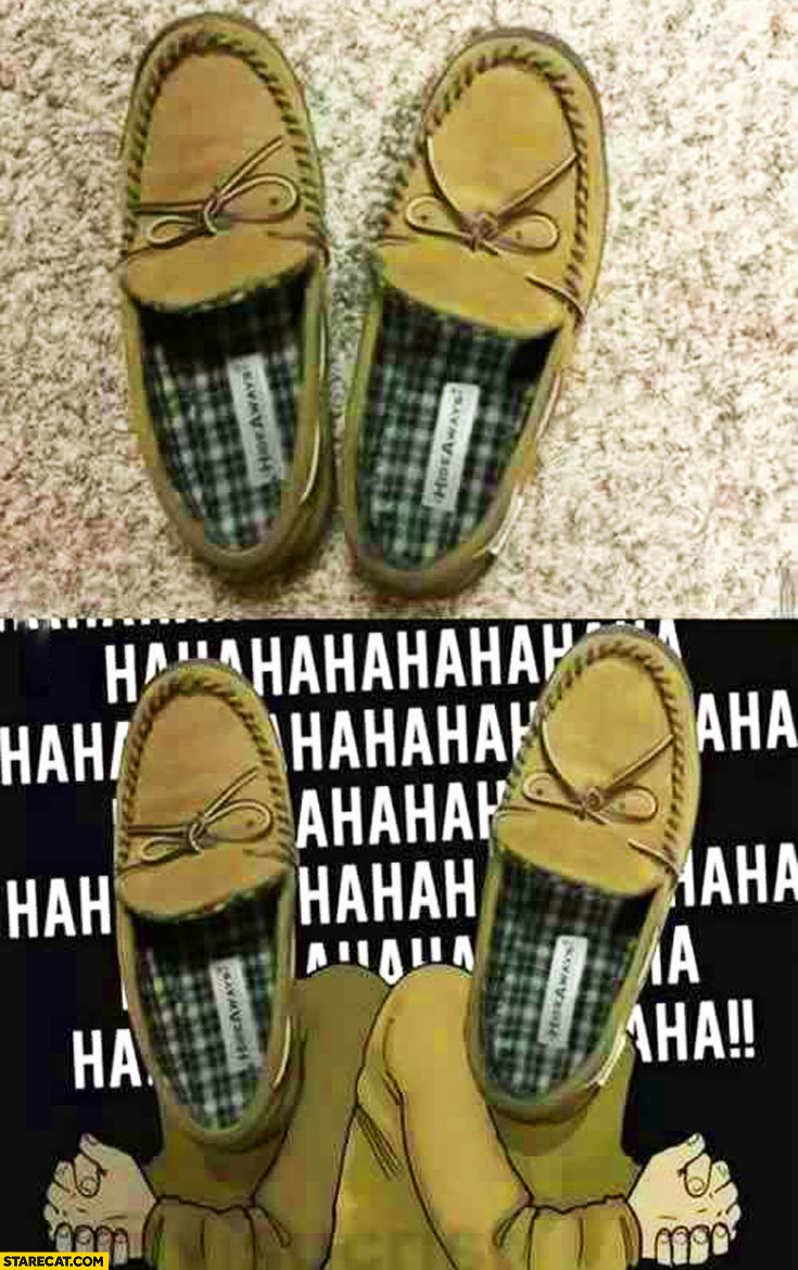 Evil laughing shoes hahaha
