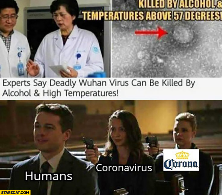 Experts say deadly Wuhan virus can be killed by alcohol and high temperatures, gun humans, coronavirus corona beer