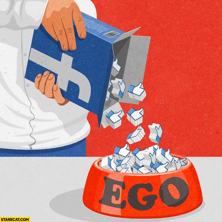Facebook likes feeding ego