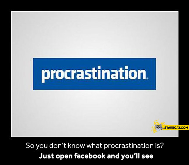 Facebook procrastination logo