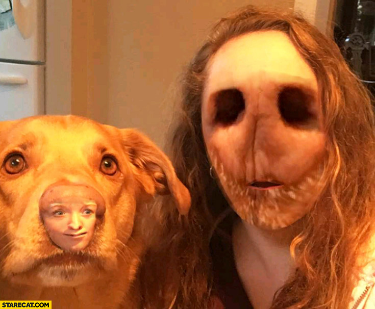 Faceswap with a dog fail nose instead of face