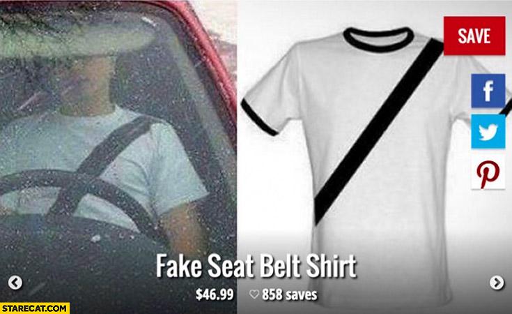 Fake seat belt shirt