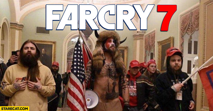 Farcry 7 Trump supporters protesters in capitol congress