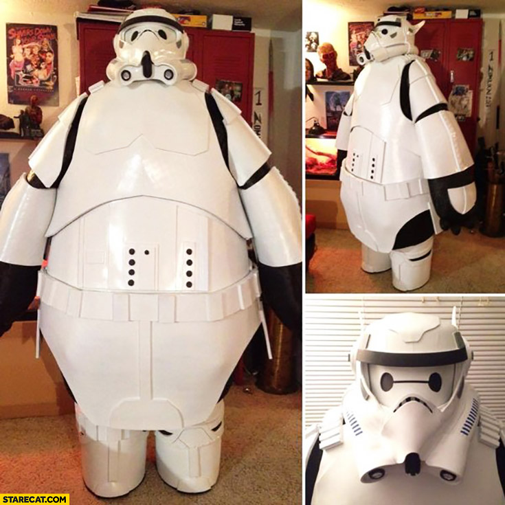 Fat Stormtrooper costume cosplay sumo