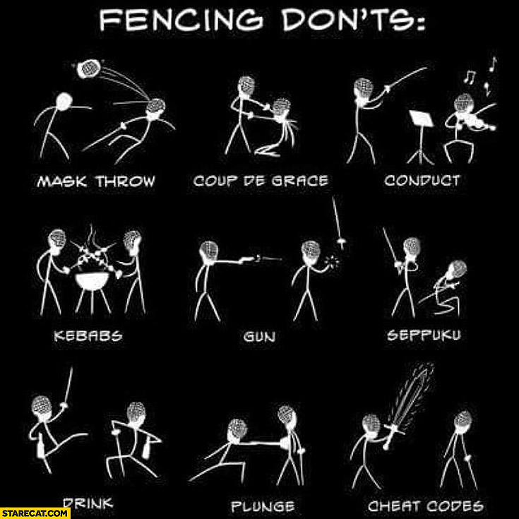 Fencing dont's