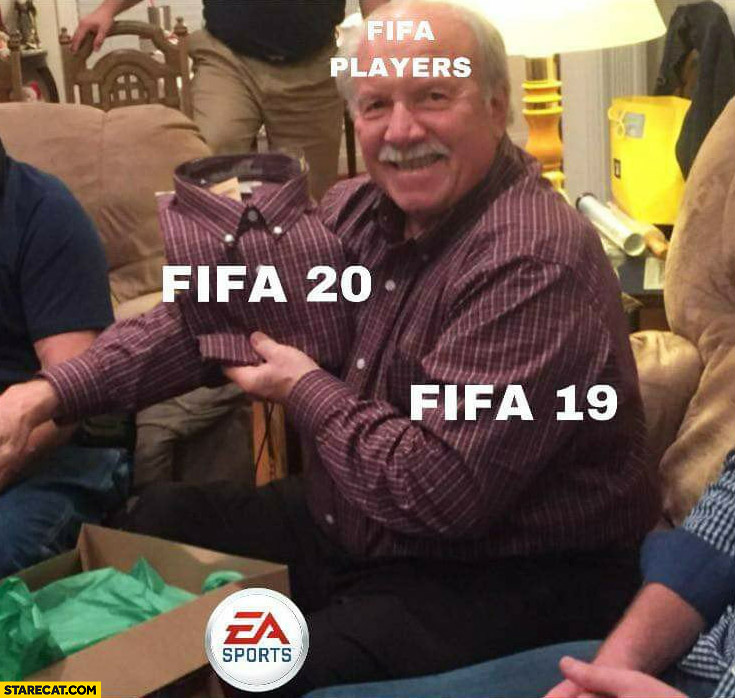 FIFA player FIFA 19 vs FIFA 20 new shirt like the shirt he is already wearing
