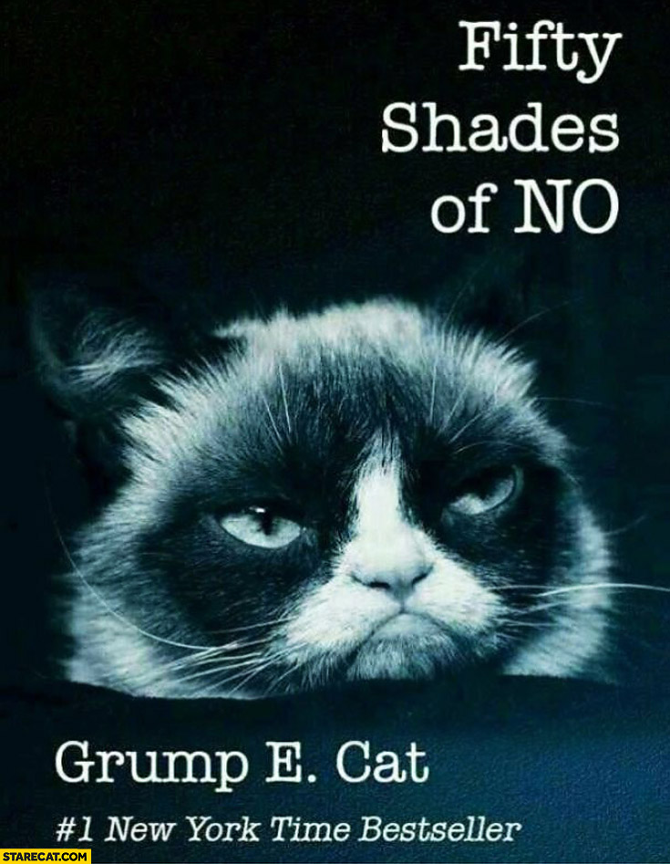 Fifty shades of no Grumpy Cat