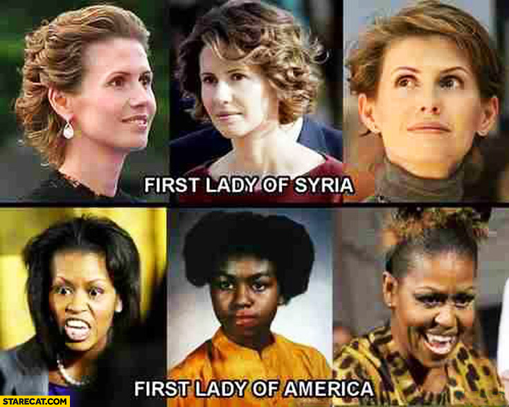 First lady of Syria, first lady of America comparison