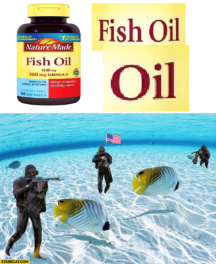 Fish oil capsules word oil usa army special forces war