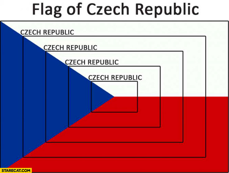 Flag of Czech Republic scalable inception