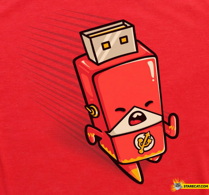 Flash hero as pendrive