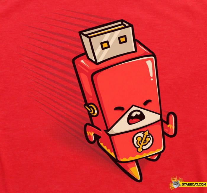 Flash hero as pendrive