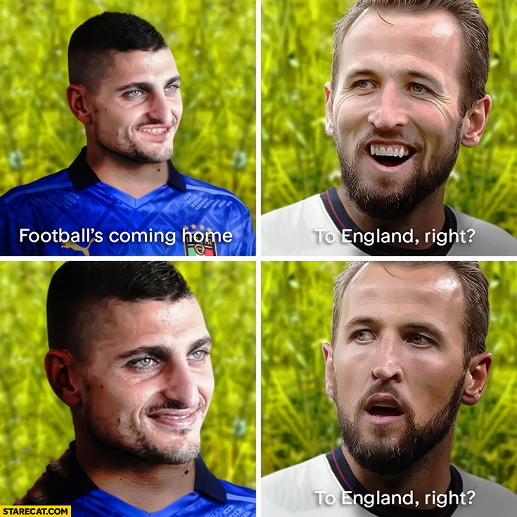 Football's coming home to England right euro, no to Italy euro 2020 star wars meme