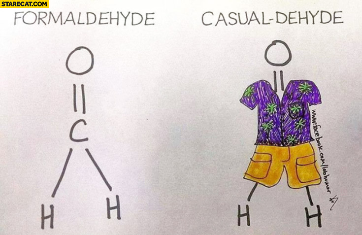 Formaldehyde casualdehyde