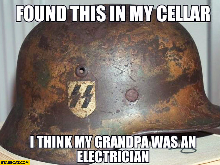 Found this in my cellar I think my grandpa was an electrician SS nazi