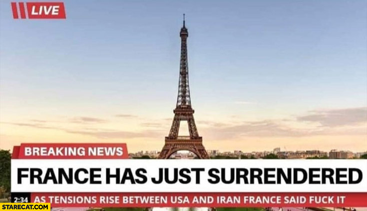 France has just surrendered breaking news
