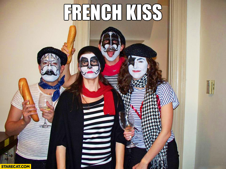 French kiss makeup costumes