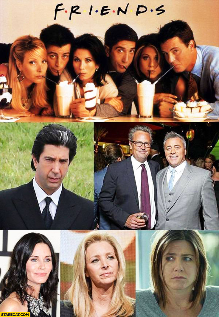 Friends actors now and then looking old