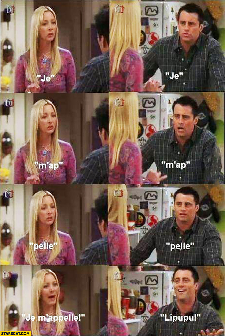Friends Joey learning French