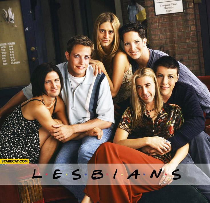 Friends lesbians