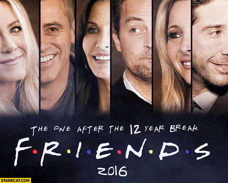 Friends TV series, the one after 12 year break 2016