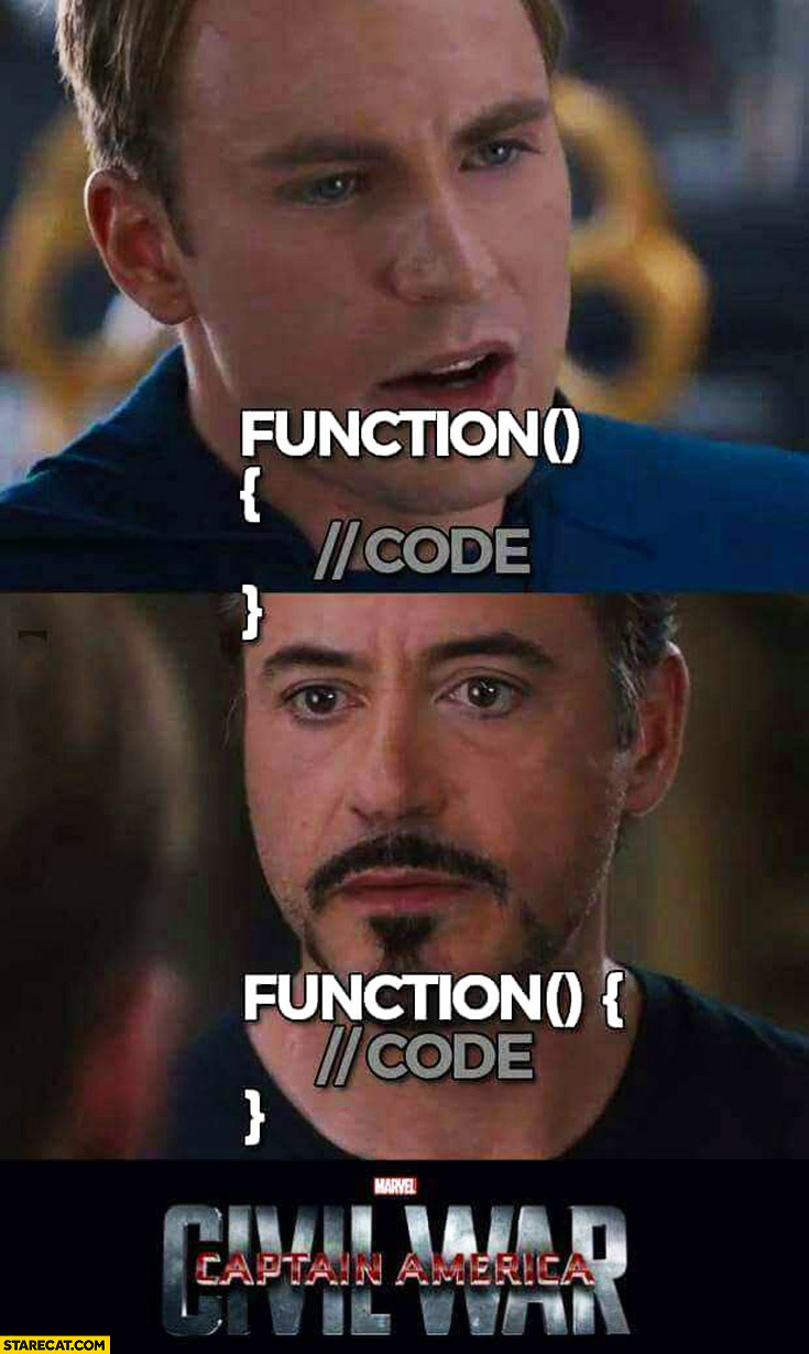Function brackets two types of style Civil War