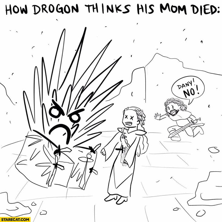 Game of Thrones how drogon thinks his mom died drawing