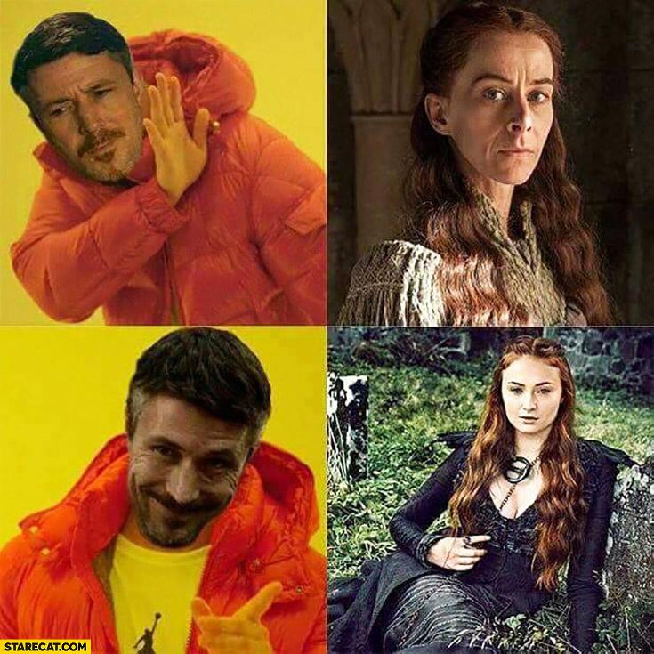 Game of Thrones Littlefinger Drake meme Sansa