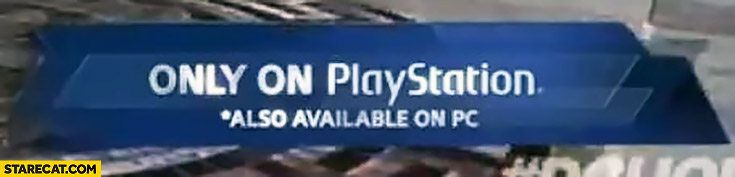 Game only on PlayStation. *Also available on PC