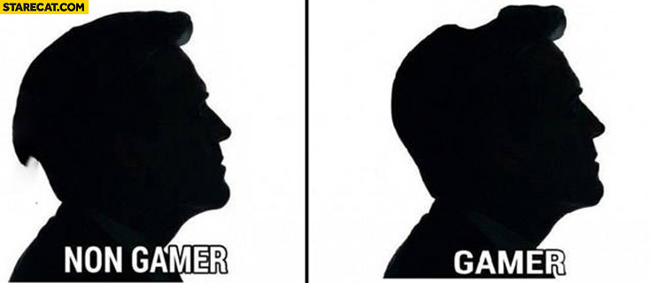 Gamer vs non gamer hairstyle comparison