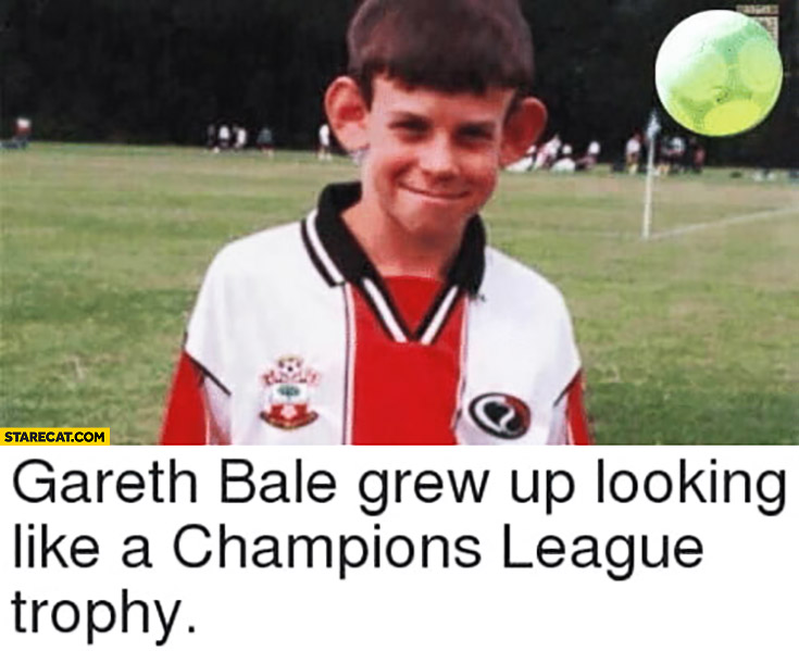 Gareth Bale grew up looking like a Champions League trophy