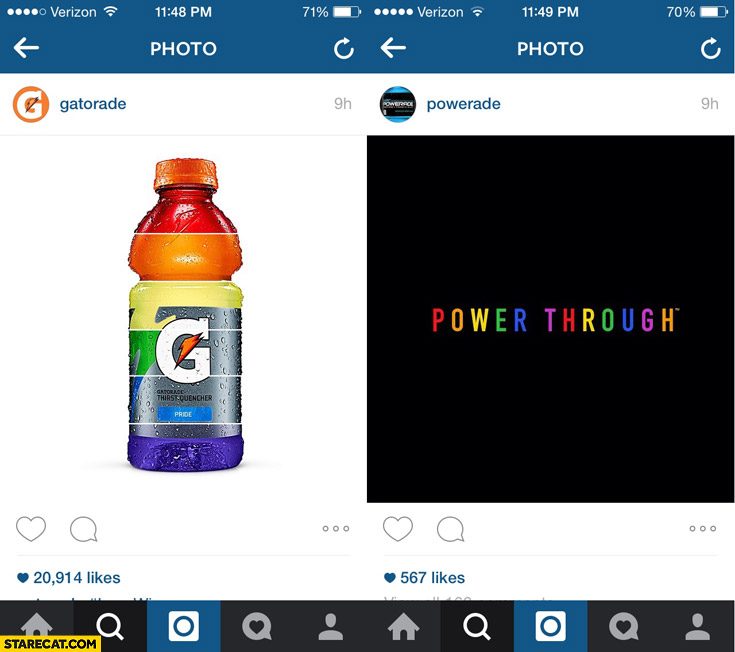 Gatorade Powerade rainbow colorful instagram