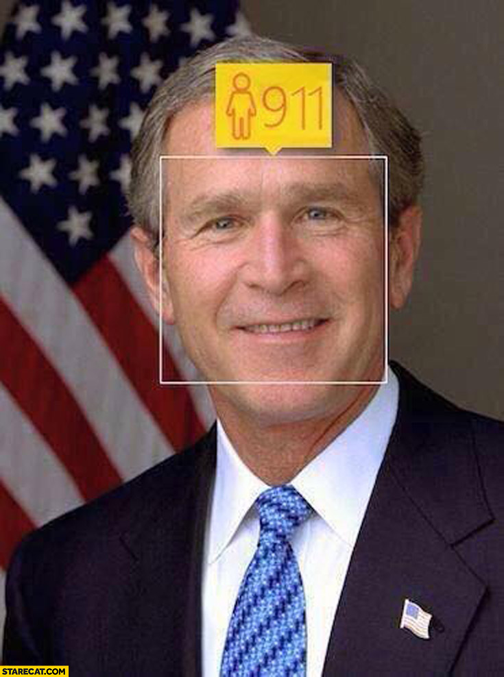 George Bush how old 9 11 nine eleven WTC face